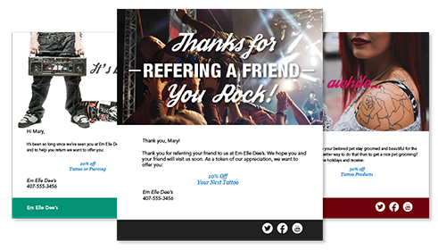 photo of examples of email templates for tattoo studio